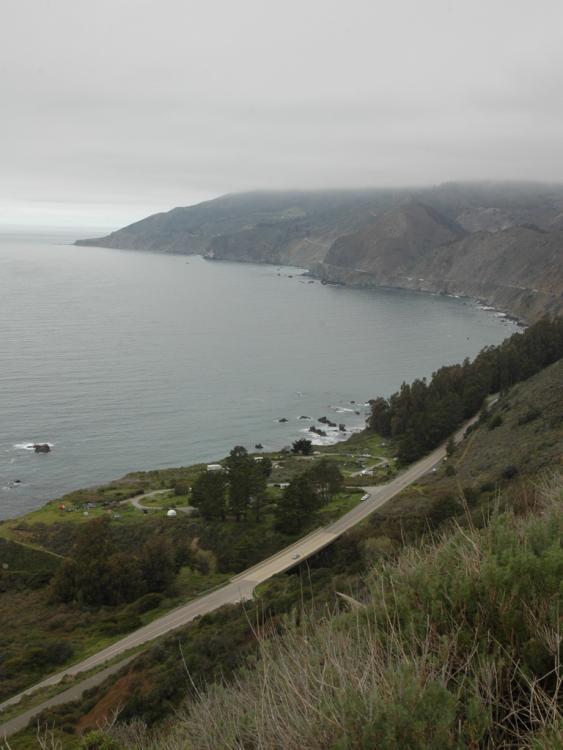Big Sur coast, looking north.